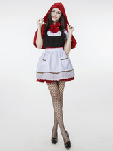 Anime Costumes AF-S2-628839 Halloween Costume Little Red Riding Hood Women's Maid Dress With Red Headband