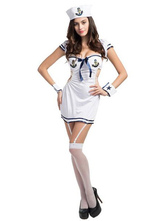 Anime Costumes AF-S2-626623 Sexy Sailor Costume Halloween Women's Navy Costume Cosplay With Bodycon Outfits