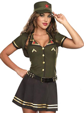 Anime Costumes AF-S2-626567 Halloween Sexy Costume Women's Belted Cop Costume Outfit