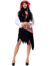 Anime Costumes AF-S2-626615 Halloween Costumes Pirate Women's Outfit Cosplay With Pirates Wigs