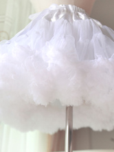 Lolita Dress Petticoat White Sweet Tulle Ruffle Petticoat Skirt