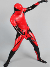 Anime Costumes AF-S2-631303 Halloween Zentai Suits Sexy Red Latex Full Bodysuit