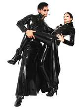 Anime Costumes AF-S2-631339 Patent Leather Costume Women's Black Sexy Long Trench Coat