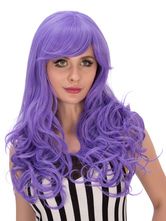 Anime Costumes AF-S2-635843 Halloween Hair Wigs Women's Long Blue & Black Curly Synthetic Wigs