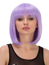 Anime Costumes AF-S2-633079 Halloween Hair Wigs Lilac Shoulder Length Straight Bangs Synthetic Wigs