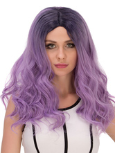 Anime Costumes AF-S2-633043 Halloween Long Wigs Lilac Ombre Wavy Synthetic Hair Wigs For Women