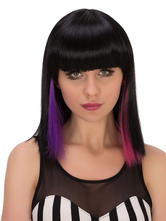 Anime Costumes AF-S2-633071 Halloween Hair Wigs Straight Mixed Color Synthetic Long Wigs With Bangs