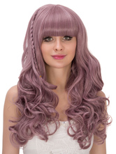 Anime Costumes AF-S2-633315 Halloween Long Wigs Women's Layered Crimped Curls Blunt Fringe Synthetic Wigs