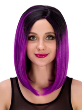 Anime Costumes AF-S2-633249 Halloween Ombre Wig Women's Short Straight Side Parting Synthetic Hair Wigs