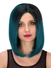 Anime Costumes AF-S2-633279 Women's Short Wigs Halloween Straight Pixies Boycut Synthetic Hair Wigs In Dark Green