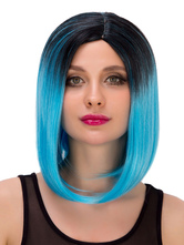 Anime Costumes AF-S2-633277 Halloween Short Wigs Straight Boycuts Two Stone Center Parting Synthetic Hair Wigs For Women