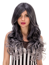 Anime Costumes AF-S2-633261 Halloween Long Wigs Women's Curly Side Parting Ombre Synthetic Hair Wigs