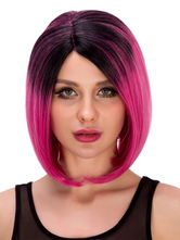 Anime Costumes AF-S2-633251 Halloween Short Wigs Women's Straight Boycut Ombre Synthetic Hair Wigs