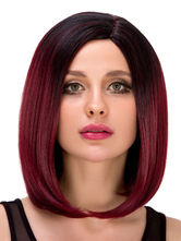 Anime Costumes AF-S2-633253 Women's Short Wigs Halloween Straight Side Parting Ombre Synthetic Hair Wigs