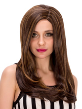 Anime Costumes AF-S2-633207 Brown Straight Wigs Halloween Long Layered Hair Wigs For Women