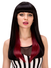 Anime Costumes AF-S2-633255 Halloween Long Wigs Women's Straight OmbreSynthetic Hair Wigs With Blunt Fringe