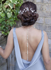 Collier de mariée avec perles blanc accessoire de mariage