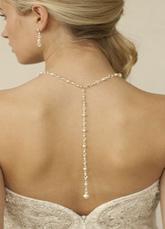 Wedding Backdrop Necklace White Pearl Vintage Necklace