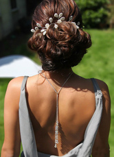 Casamento cenário colar pingente branco Bridal joias para mulheres