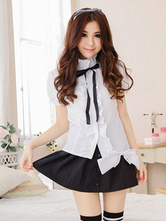 Anime Costumes AF-S2-633375 Halloween School Girl Sexy Costume Women's Mini Skirt Uniform With Shirt
