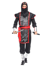 Anime Costumes AF-S2-633447 Halloween Ninja Costume Men's Two Tone Leopard Ninja Costume Outfits