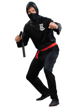 Anime Costumes AF-S2-633349 Halloween Ninja Costume Men's Black Coustume Outfit