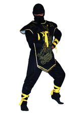 Anime Costumes AF-S2-633355 Halloween Ninja Costume Outfits Two Tone Ninja Costume Set For Men