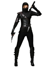 Anime Costumes AF-S2-633329 Black Ninja Costume Halloween Women's Costume Outfit In 5 Piece