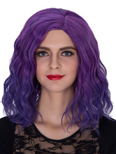 Anime Costumes AF-S2-633505 Halloween Hair Wigs Women's Purple Ombre Wavy Shoulder Length Synthetic Wigs