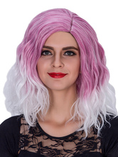 Anime Costumes AF-S2-633485 Halloween Women's Wigs Wavy Rose Red Ombre Shoulder Length Synthetic Hair Wigs