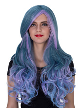 Anime Costumes AF-S2-633521 Halloween Long Wigs Women's Royal Purple Ombre Curly Synthetic Hair Wigs
