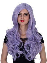 Anime Costumes AF-S2-633525 Halloween Women's Wigs Long Purple Curly Side Parting Synthetic Hair Wigs