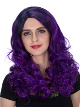 Anime Costumes AF-S2-633471 Halloween Women's Wigs Curly Purple Ombre Long Synthetic Hair Wigs