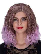 Anime Costumes AF-S2-633503 Halloween Women's Wigs Lilac Ombre Wavy Shoulder Length Side Parting Hair Wigs