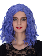 Anime Costumes AF-S2-633501 Halloween Women's Wigs Royal Purple Wavy Shoulder Length Synthetic Hair Wigs