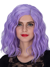 Anime Costumes AF-S2-633479 Halloween Women's Wigs Wavy Purple Shoulder Length Hair Wigs