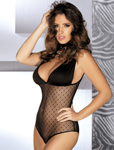 Black Lace Teddy Semi Sheer Stretch Sexy Lingerie