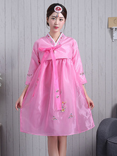 Anime Costumes AF-S2-634415 Halloween Korean Costume Fancy Dress Traditional Women's A-line Crepe Dress Set In 2 Piece