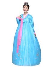 Anime Costumes AF-S2-634423 Halloween Korean Costume Ancient Women's Satin Stage Hanbok Dress
