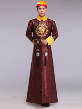Anime Costumes AF-S2-634483 Halloween Chinese Costume Fancy Dress Traditional Emperor Prince Baylor Satin Gown Set In 4 Piece