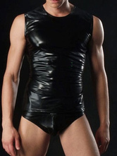 Anime Costumes AF-S2-634501 Halloween Sexy Costume Men's Black Lycra Shiny Bodysuit