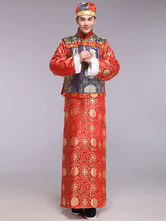 Anime Costumes AF-S2-634471 Halloween Chinese Costume Fancy Dress Traditional Emperor Prince Baylor Gown Set In 3 Piece