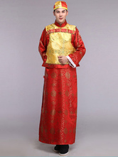 Anime Costumes AF-S2-634469 Halloween Traditional Chinese Costumes Qing Dynasty Men's Gown Suits Chinese Ancient Costume