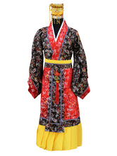 Anime Costumes AF-S2-634463 Halloween Chinese Emperor Costume Tang Suit Costume Crown Hanfu Dragon Robe Set For Men