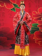 Anime Costumes AF-S2-634461 Halloween Chinese Costume Fancy Dress Imperial Robe Ancient Costume Empress Red Satin Gown Set In 3 Piece