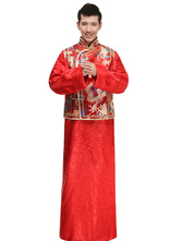 Anime Costumes AF-S2-634441 Halloween Chinese Costume Bridegroom Dragon Embroidered Men's Red Ancient Robe Costume