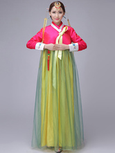 Anime Costumes AF-S2-634401 Halloween Korean Costume Fancy Dress Traditional Women's A-line Tulle Maxi Dress Set