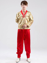 Anime Costumes AF-S2-634407 Halloween Korean Costume Fancy Dress Traditional Men's Satin Top And Loose Pants