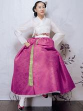 Anime Costumes AF-S2-634409 Halloween Korean Costume Fancy Dress Traditional Women's A-line Maxi Dress Set