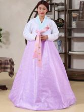 Anime Costumes AF-S2-634411 Halloween Korean Costume Fancy Dress Traditional Women's A-line Floor Length Maxi Dress Set